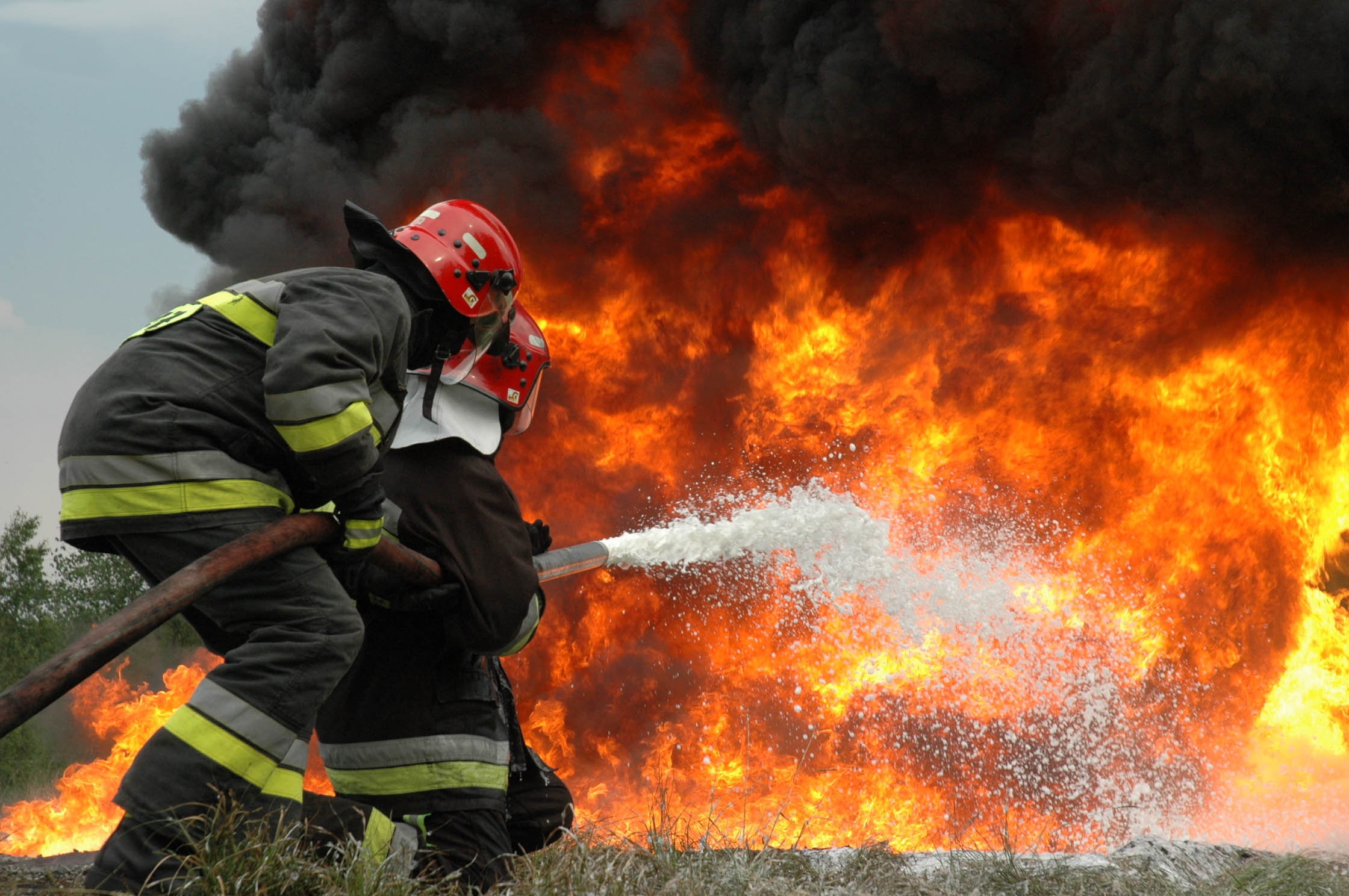 Firemen Battling Fire